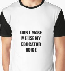 Educator Gift for Coworkers Funny Present Idea Graphic T-Shirt