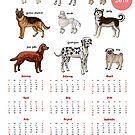 Calendar 2019 Dogs Sketches I by Natalia Piache