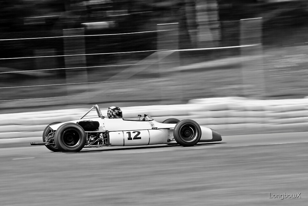 White Photography Automotive Racing Number 12 Formula by LongbowX