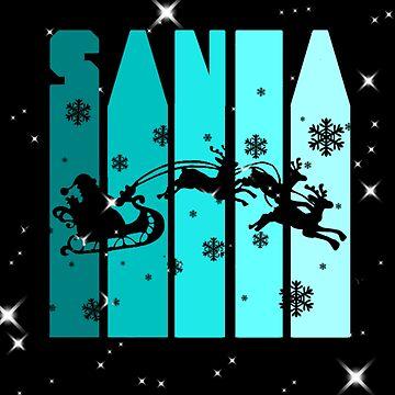 Blue Santa Claus Text by Katastra