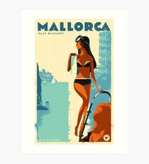 Retro travel poster — Mallorca, Spain ⛔ HQ quality Art Print