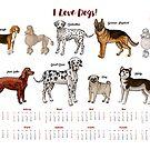 Calendar 2019 Dogs Sketches II by Natalia Piache