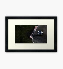 White Photography Automotive Shelby GT350 Exit  Framed Print