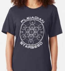 Pleiadian Starseed Sacred Geometry Slim Fit T-Shirt