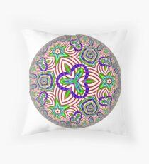 Noneuclidean Quasi-Ukrainian Mandala #77 Floor Pillow