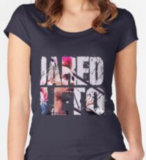 Jared Leto 30 seconds to mars Women's Fitted Scoop T-Shirt