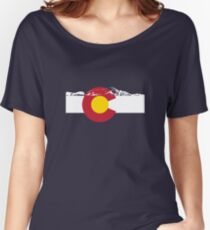 Rocky Mountains - Colorado Flag Women's Relaxed Fit T-Shirt