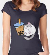 BobaCat Tailliertes Rundhals-Shirt
