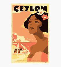 Retro travel poster — Ceylon ⛔ HQ quality Photographic Print