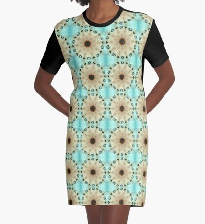Hearts With Shapes Graphic T-Shirt Dress