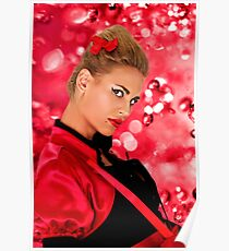 Blonde Fashion Girl Portrait Fine Art Print Poster