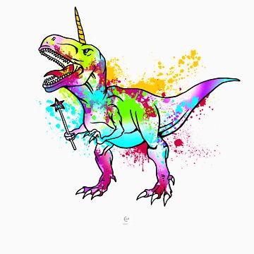 Unicorn dinosaurs gift by LikeAPig