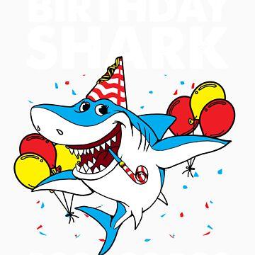 Birthday shark gift by LikeAPig