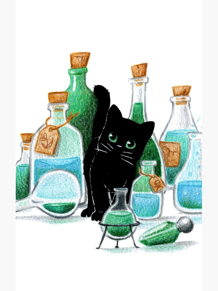 Black Cat & Potions by DelphineDion