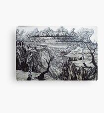 pangaea. 36''x24''. graphite on wood. adam sturch Canvas Print