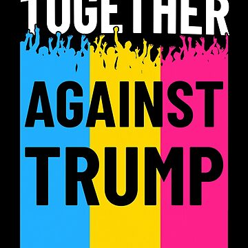 Together Against Trump Pansexual Flag Protest by hadicazvysavaca