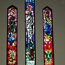 Season's Greetings - Windows of Anglican Church, Drouin by Bev Pascoe