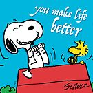 Snoopy - you make life better by manzinello