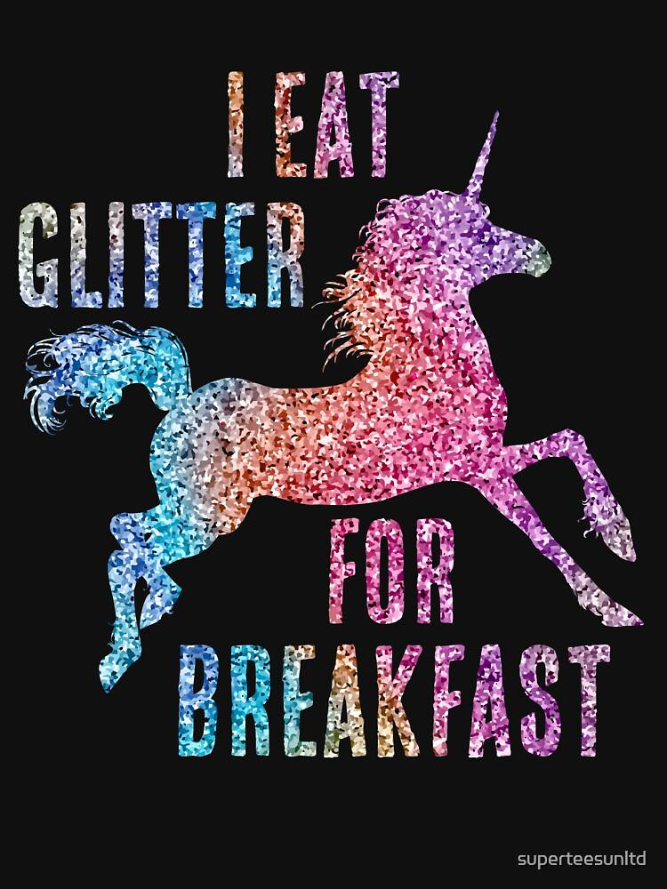 3fcd915ecda2 I Eat Glitter For Breakfast Unicorn | Lightweight Hoodie