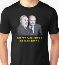 """Still Game Inspired Jack and Victor """"Merry Christmas Ya Wee Fanny"""" Funny Design Unisex T-Shirt"""