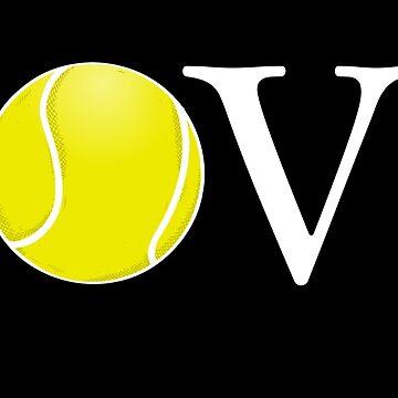 Tennis Love Ball Shirt Gift Tennis Player Coach by Rueb