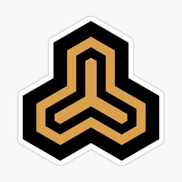 Geometric Pattern: Y Outline: Black/Gold Sticker