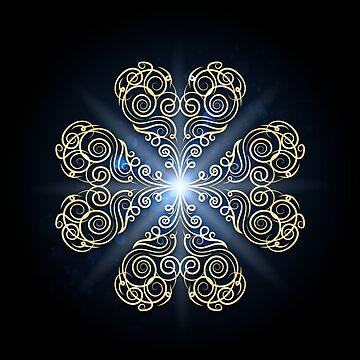 Golden Swirls Emblem by devaleta