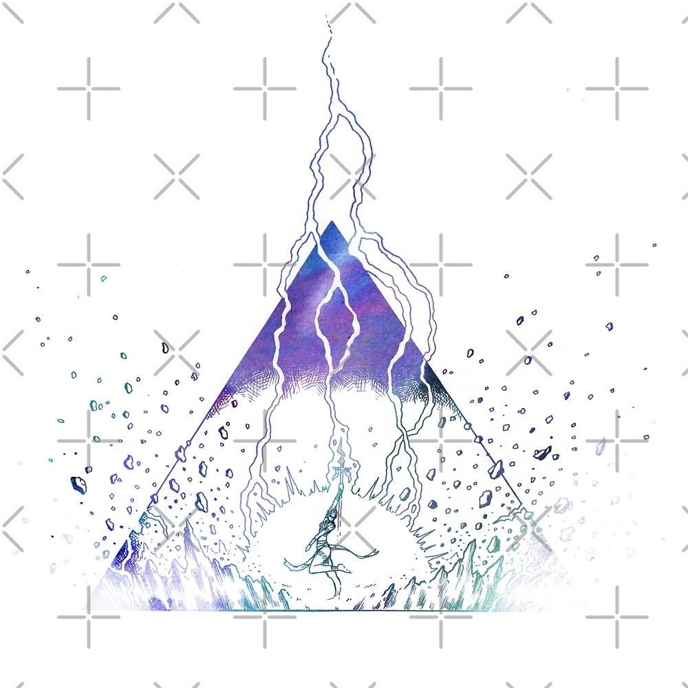 Fantasy illustration - thunder dance by zachholmbergart