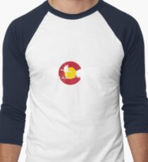 Skier - Colorado Flag - Iron Cross T-Shirt