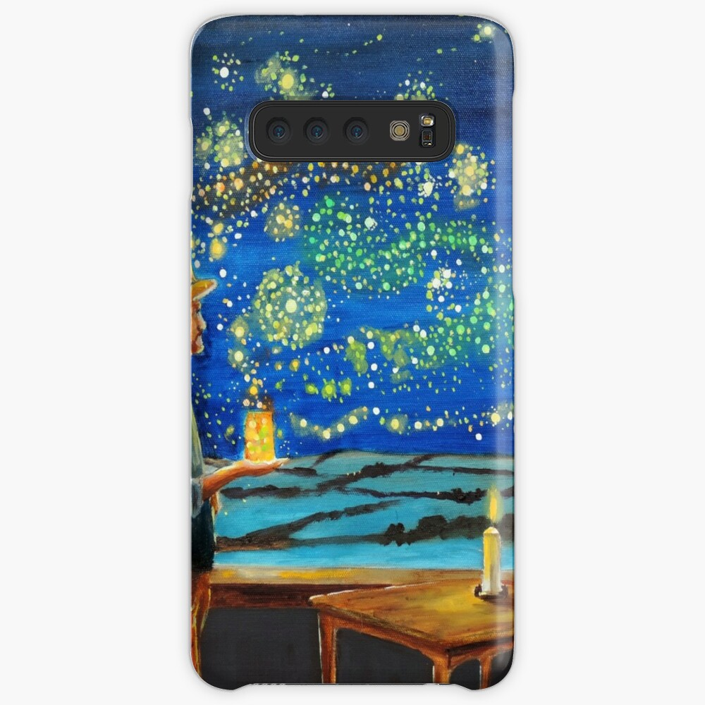 Van Gogh & The Starry Night with fireflies Cases & Skins for Samsung Galaxy