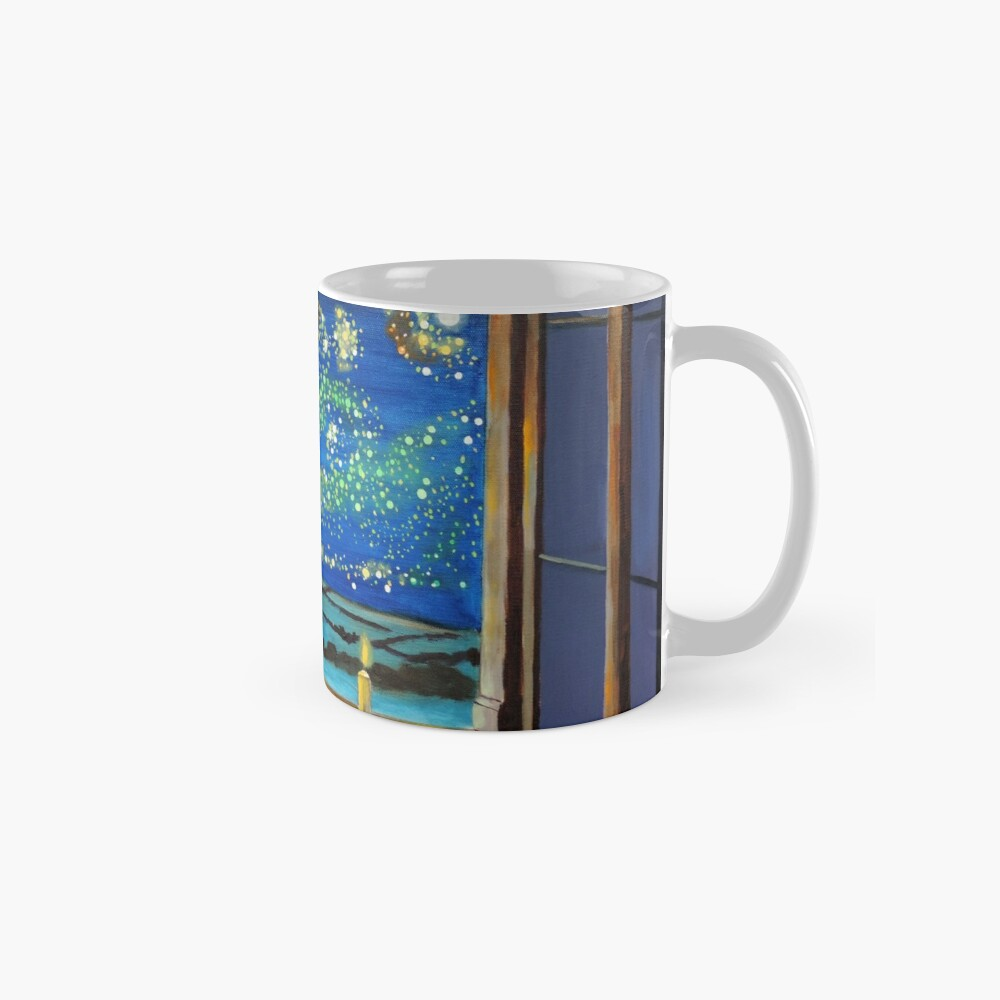 Van Gogh & The Starry Night with fireflies Mugs