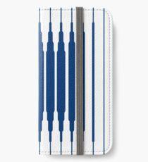 SQUARE LINE (BLUE) Vinilo o funda para iPhone