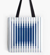 SQUARE LINE (BLUE) Bolsa de tela