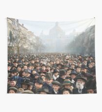 Antwerp, Belgium, a few hours after the Germans surrendered and an end of World War I. 11th November 1918 Wall Tapestry