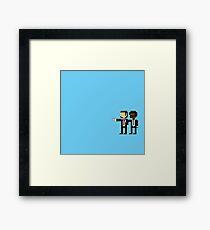 Pulp Fiction 8 Bit Pixel Illustration Framed Print