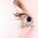 Blue eye with waterdrops by Gabor Pozsgai