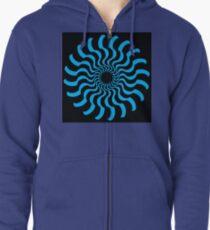 EYE 2 (BLUE) Sudadera con capucha y cremallera