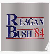 Reagan Bush '84 Election Vintage  Poster