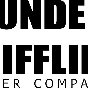 The office - dunder mifflin logo - tv show by Uwaki