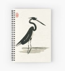 heron on rice paper Spiral Notebook