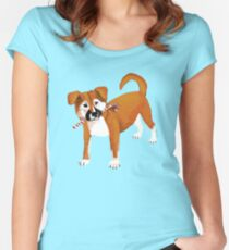 Puppy Christmas!! Women's Fitted Scoop T-Shirt