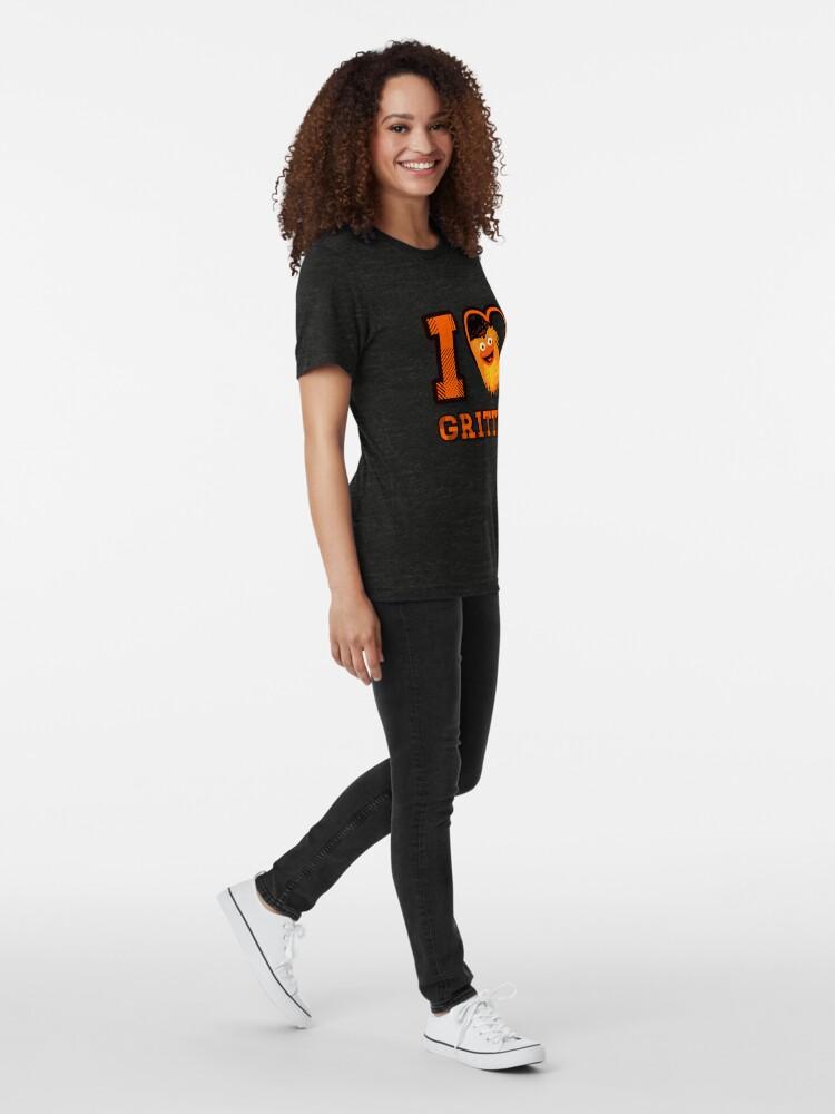 Vista alternativa de Camiseta de tejido mixto Amo a Gritty