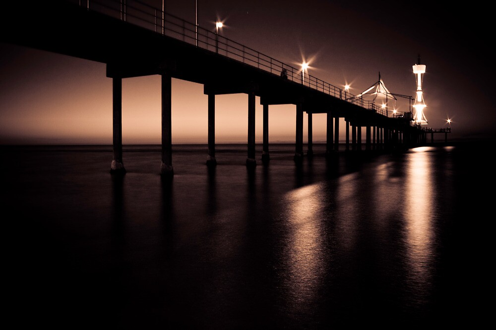 Under the Jetty - Sepia by Danny Clarkson