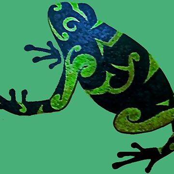 A Black And Green Frog by VictorIos