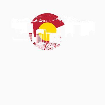 Denver Skyline - Colorado Flag by FlagSilhouettes