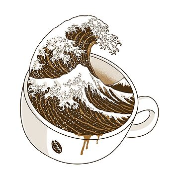 The Great Wave off Coffee by quilimostock