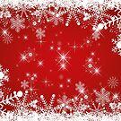 Schneeflocken / Sterne: Weihnachten in rot und weiß von Bach4you