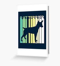 Cute Rat Terrier Silhouette Greeting Card