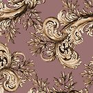 Floral Vintage Swirl - Mauve by GlitterandDecay