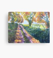 The Tunnel in Autumn Canvas Print